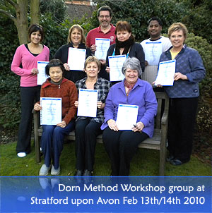 Dorn Method Training Workshop Stratford Feb 2010