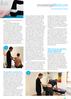 Massage World Article Dorn Method Sports Massage Combo